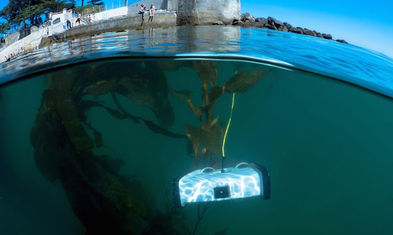 The Trident underwater drone weighs less than 3kg, and is small enough to fit in a backpack or underneath an airplane seat.