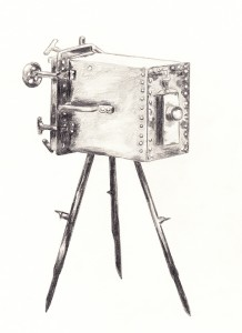 First underwater camera, invented by Louis Boutan