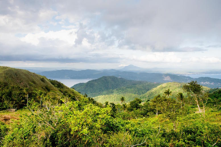 A hike to the top of Gulogod Baboy is a great wat to spend a non-diving day © Mike Bartick