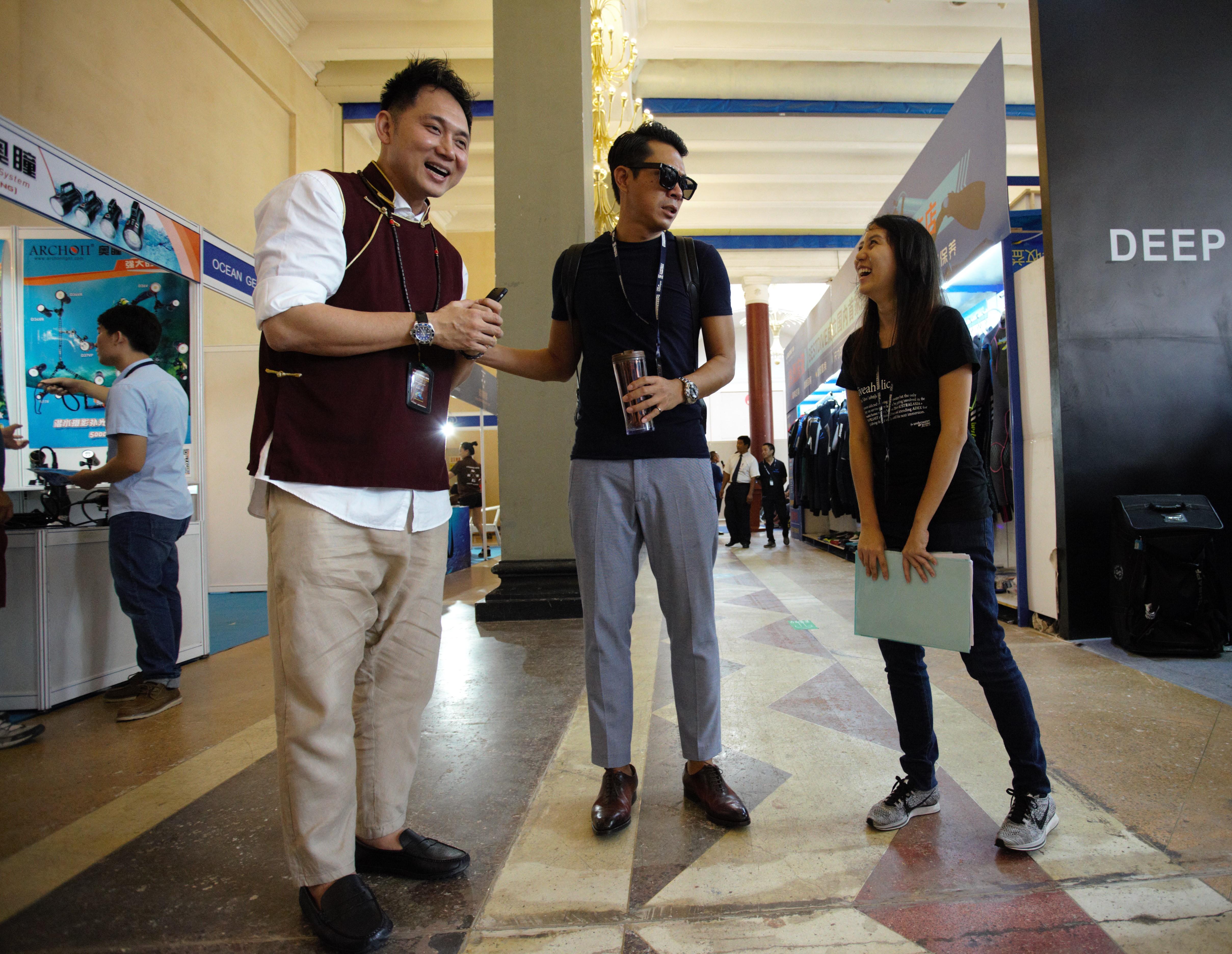 Organiser, John Thet with Yorko Summer and Rachel Ng