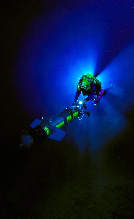 Driving a Digital Wall Mapper in 1997. © US Deep Caving Team