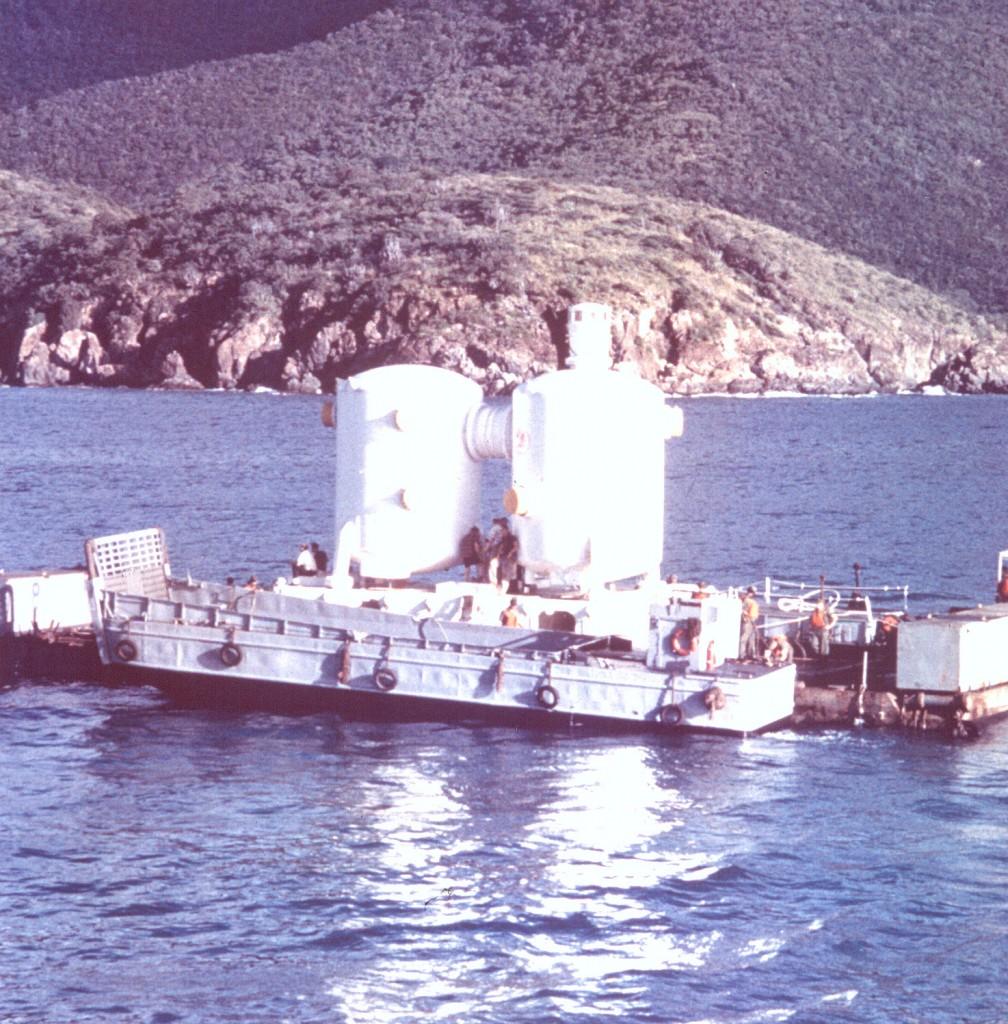 The Tektite Habitat before being deployed © Wikimedia Commons, From NOAA Photo Library