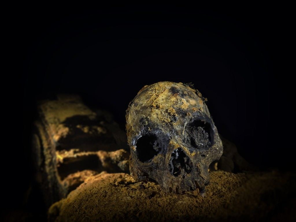 """The bones of the crewmen who were killed in the holds of the Aikoku Maru in Truk Lagoon. Deep inside that wreck there are still a huge amount of remains, all from men killed doing their duty in combat."" © Andrew Marriott"