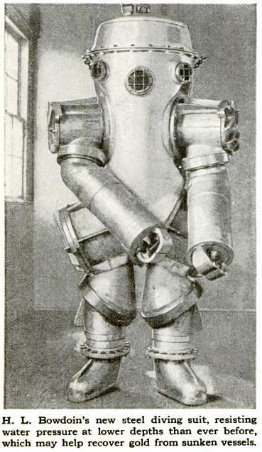 """The suits and equipment have looked nothing short of terrifying."" Source: Popular Science, August 1926"