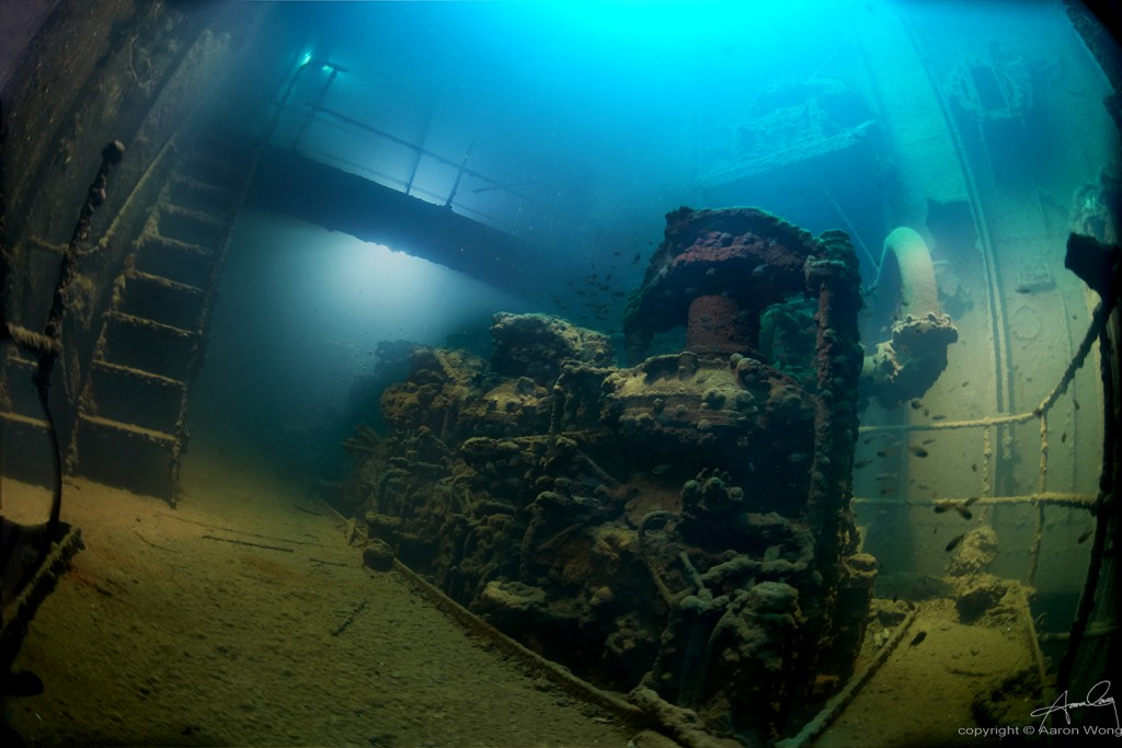 The Kensho Maru engine room © Aaron Wong